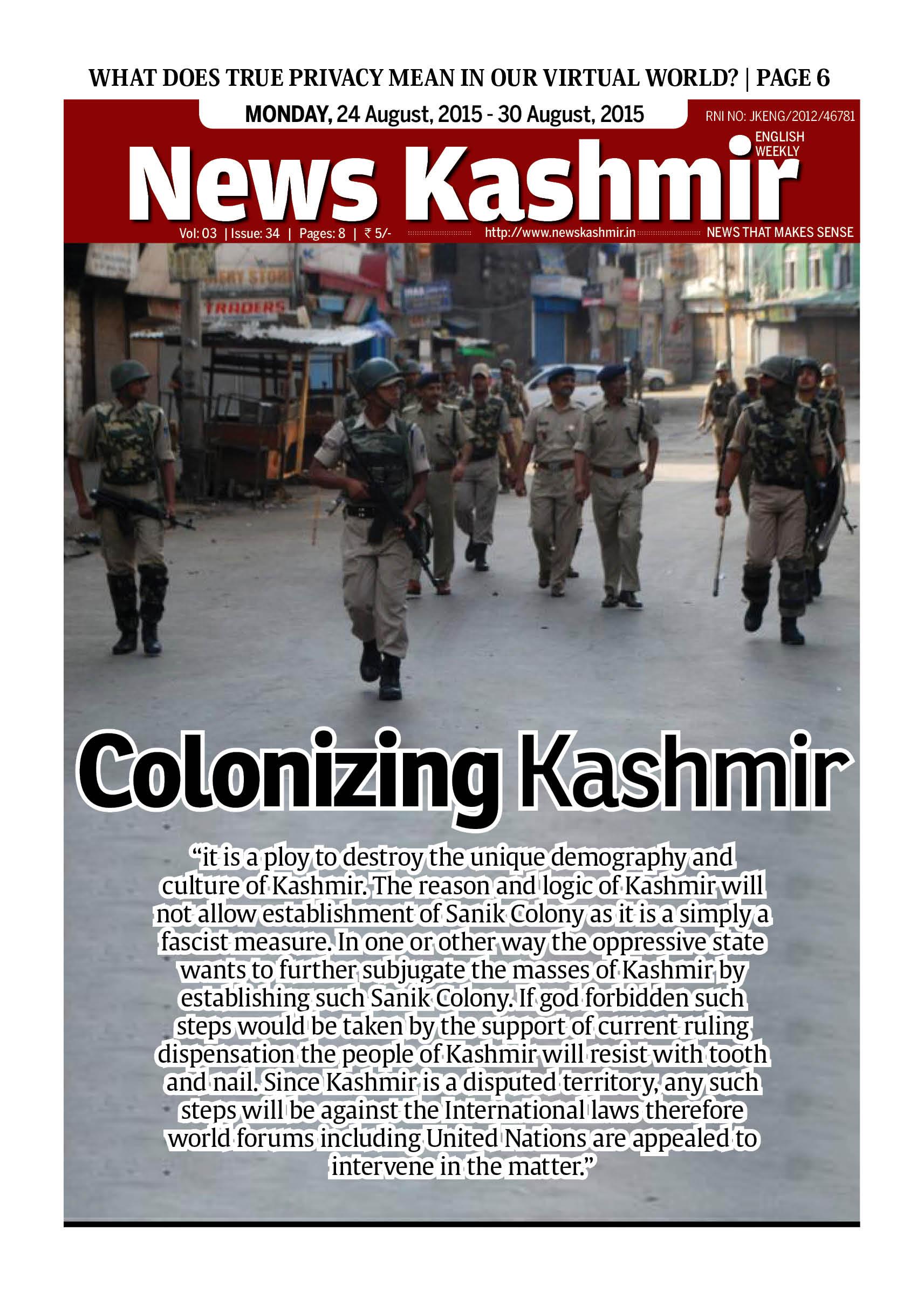 Colonizing Kashmir