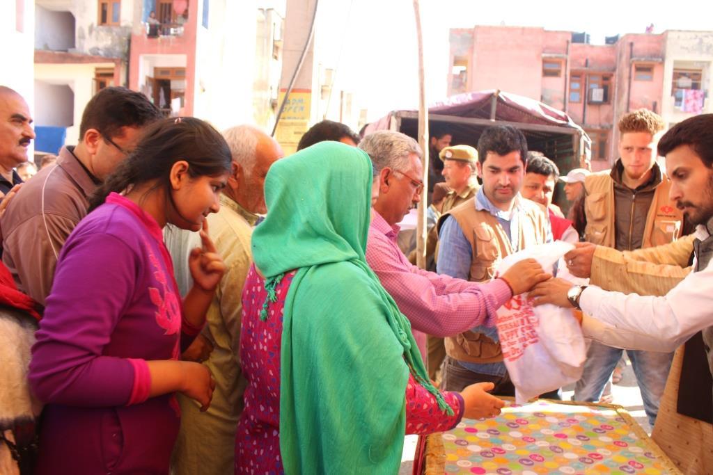 Promoting Universal Brotherhood : Mother HelpAge Distributed Lotus Stem, Walnuts on Shivratri