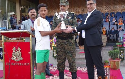 CRPF, SMC felicitates U14 Football tournament winners