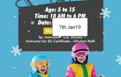 Ski Ninja Kids workshop to conducted at Gulmarg on 7 January