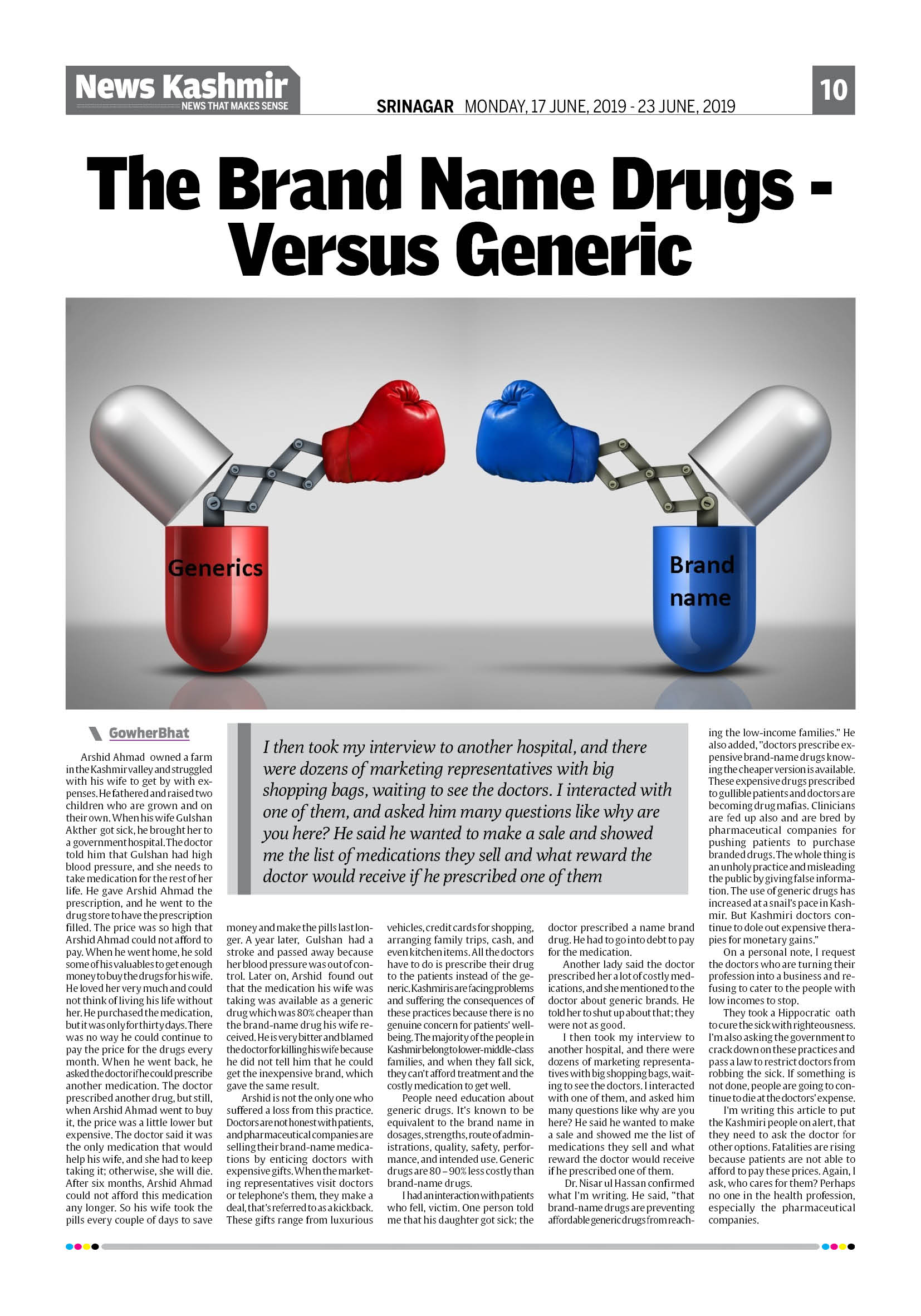 The Brand Name Drugs -Versus Generic