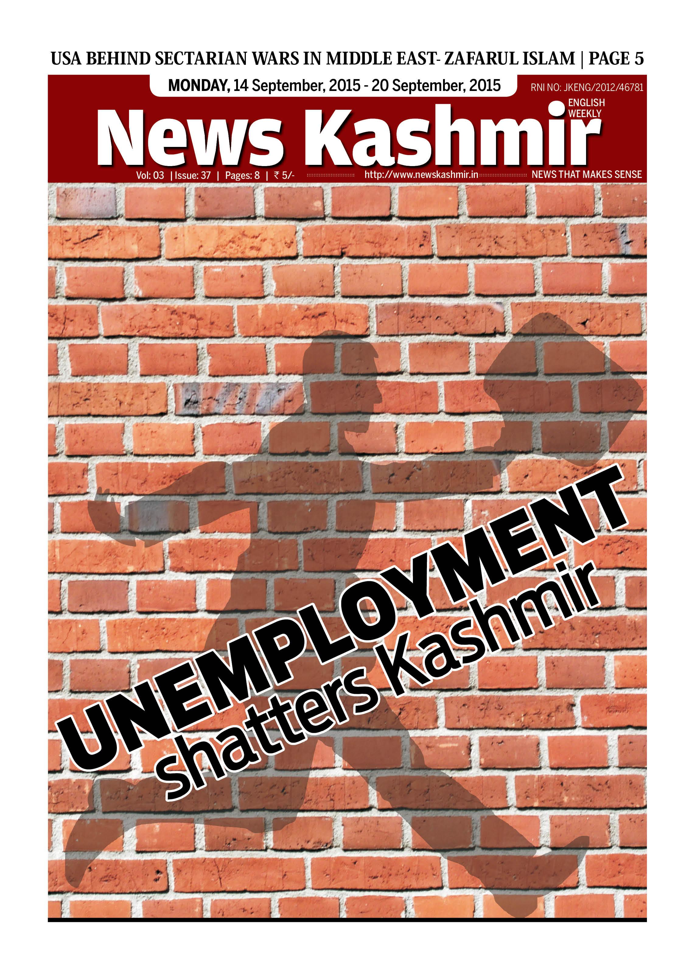 Unemployment shatters Kashmir