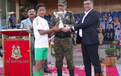 CRPF, SMC felicitates U14 Football tournament winners