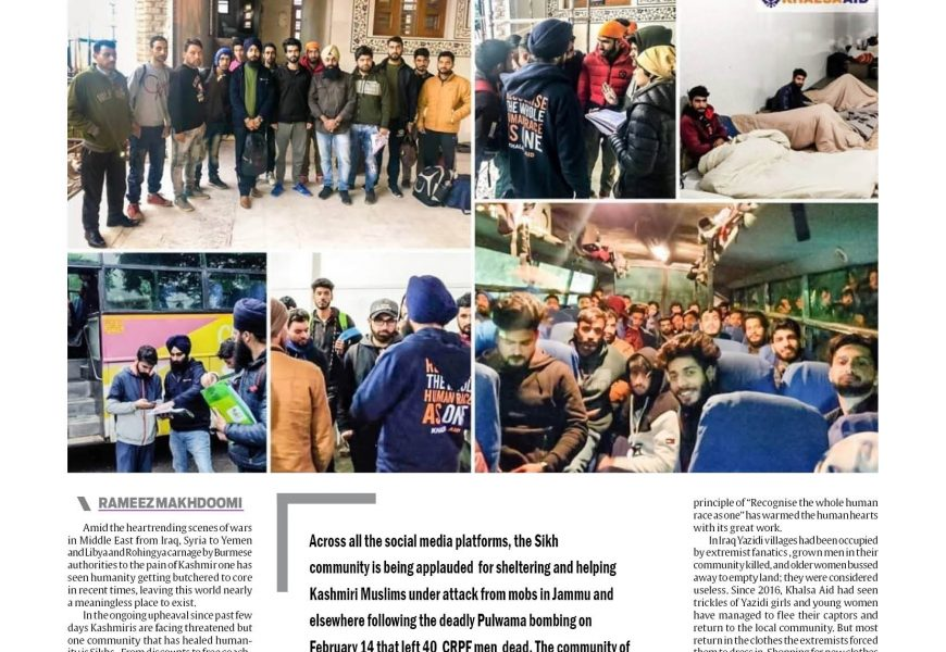 Salute to Sikh Community, Khalsa Aid
