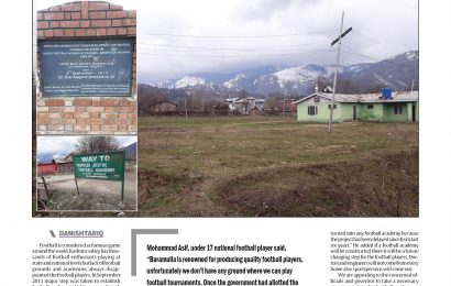 6 years on,JKSPDC football academy at Baramulla awaits completion