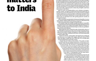 """The vote matters to India"""""""