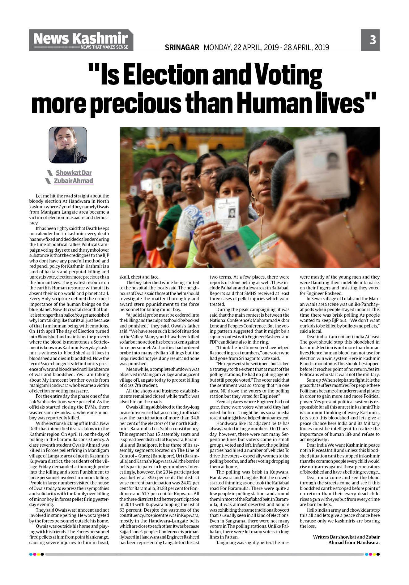 """""Is Election and Voting more precious than Human lives"