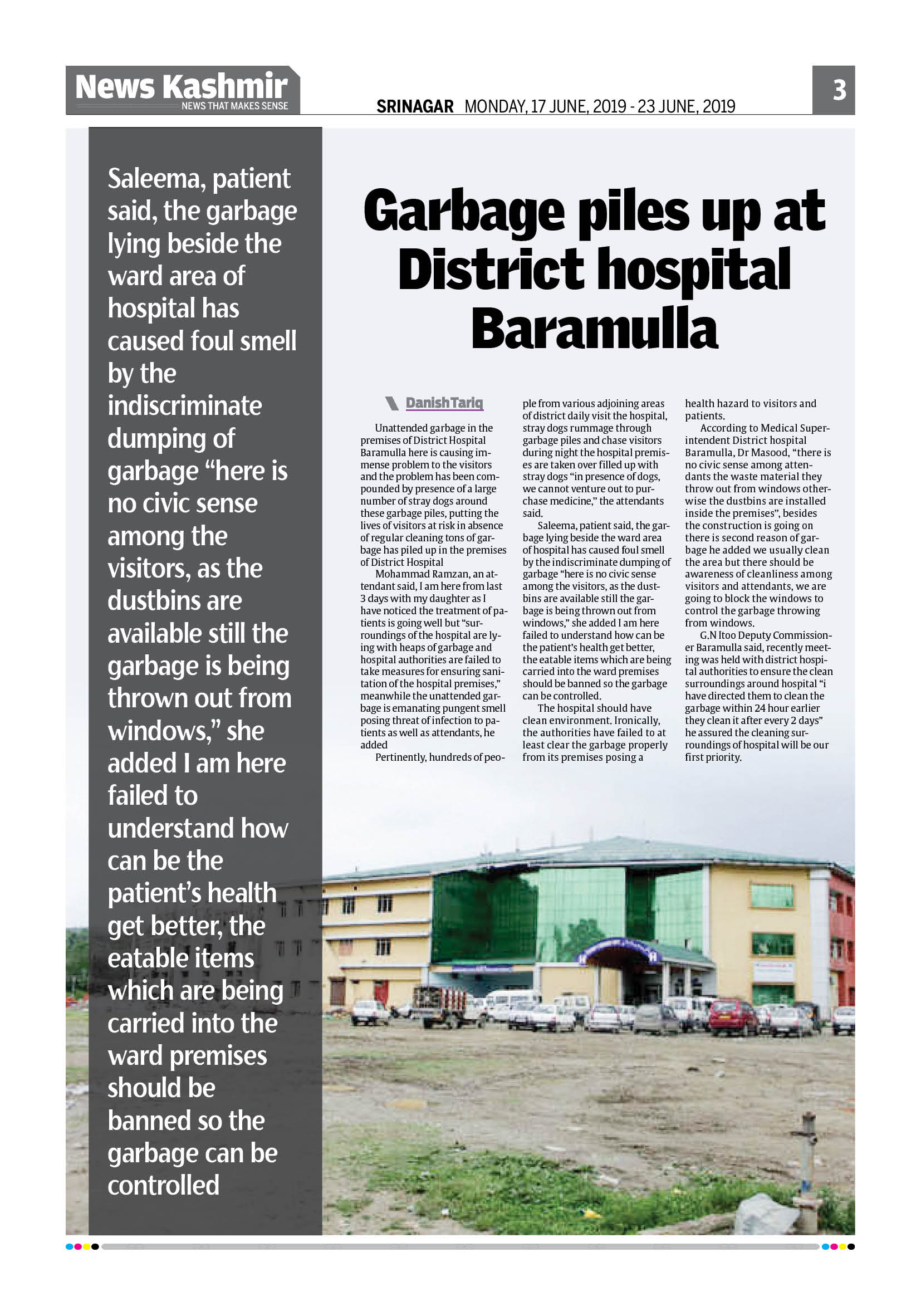 Garbage Piles up at District hospital Baramulla
